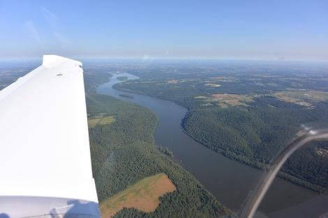 East bound over the Susquehanna River in Southern Pennsylvania, USA.