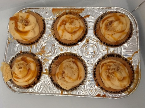 Apple pie cupcakes from The Classic Diner, Malvern, PA, USA.