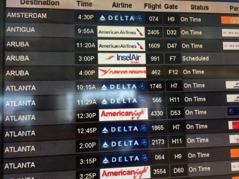 Digital departure board offers possibilities.