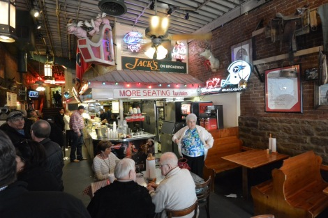 Interior of Jack's BBQ on Broadway in Nashville, Tennessee, USA.