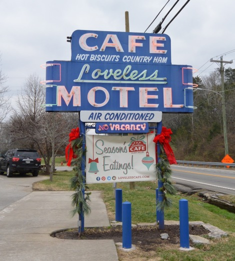Neon sign for the Loveless Cafe.