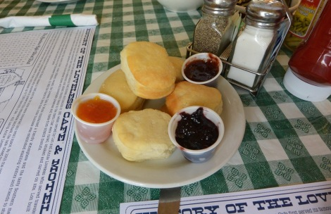 Biscuits and homemade preserves at Loveless Cafe.
