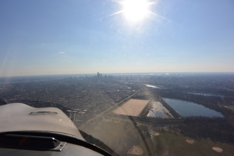 Philadelphia skyline from about 1,200' MSL.