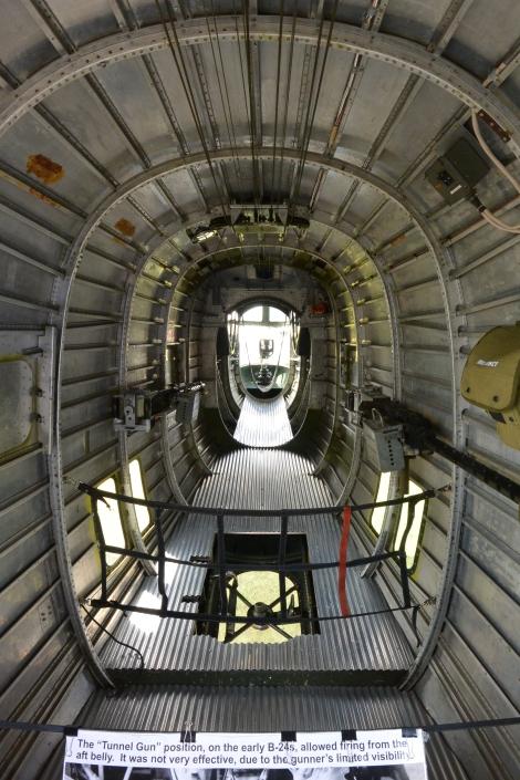 Tail gunner's station in B-24 Liberator, Diamond Lil.