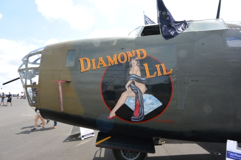 Nose of B-24 Liberator, Diamond Lil.