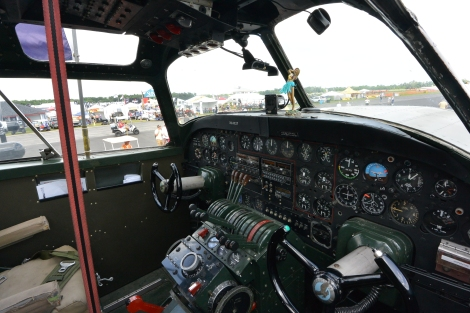 Instrument panel in the cockpit of B-24 Liberator, Diamond Lil.