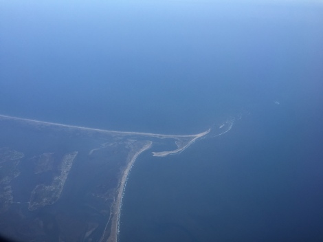 A sandy spit of land along the east coast of the United States of America.