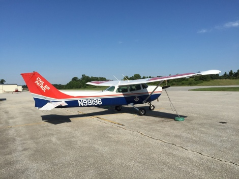 Civil Air Patrol Cessna parked on the ramp.