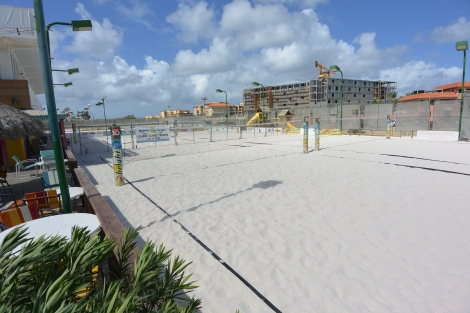 Sand courts at Beach Tennis Aruba.