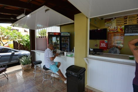 The counter at Shoco Snack, Aruba.