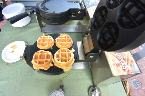 Waffles made at The Classic Diner stand, West Chester Restaurant Festival.