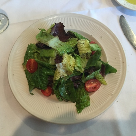 Mixed green salad at San Nicola.