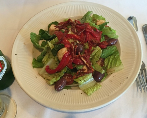 Roasted peppers and sun-dried tomato salad at San Nicola.